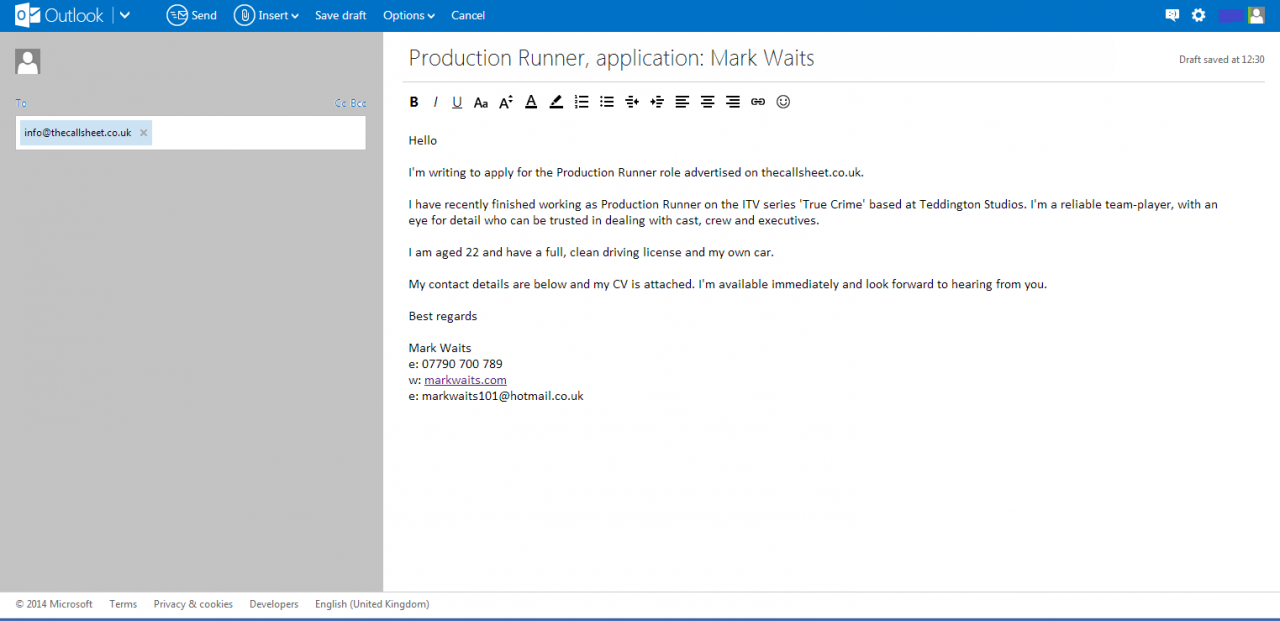 Part 1: How to Write a Job Application Email