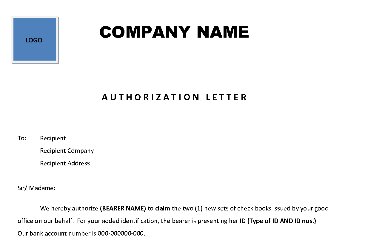 view AUTHORIZATION LETTER SAMPLE – Sample Letter of Authorization