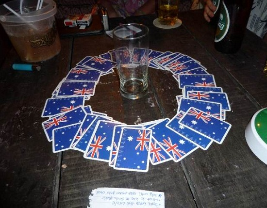Chandelier Drinking Game Cards
