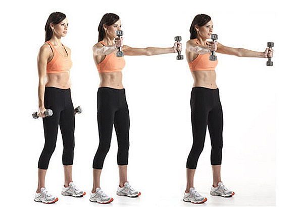 Упражнения гантелями похудения фото
