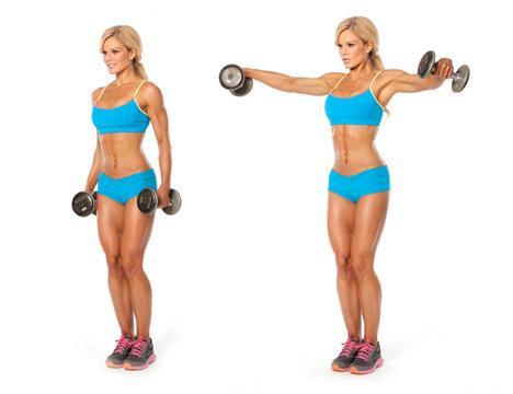 hombros fuertes elevaciones laterales