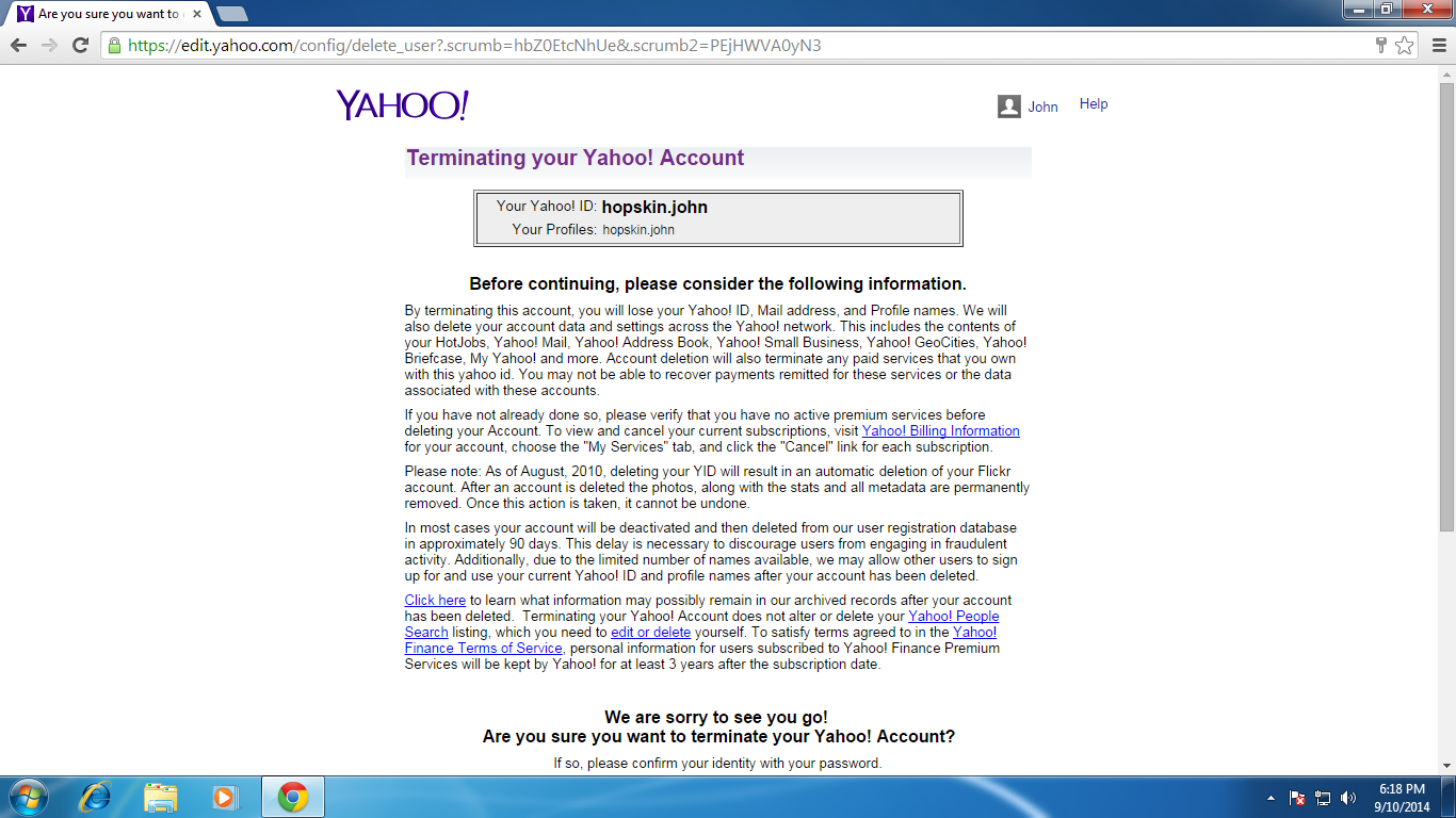 How to Delete Yahoo Email Account - 156.6KB