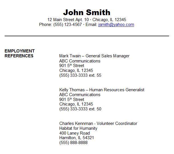 how to make a reference sheet for a resume epic cv